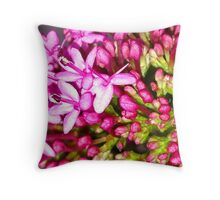 Dainty Pink Flower Throw Pillow
