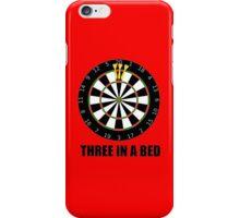 3 In A Bed (a dartboard bed)! iPhone Case/Skin