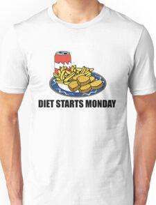 Diet Starts Monday Unisex T-Shirt