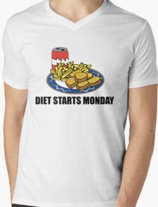 Diet Starts Monday Mens V-Neck T-Shirt