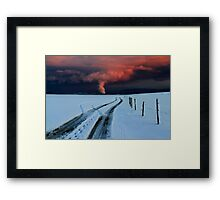 Sunset clouds above Switzerland Framed Print