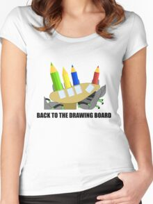 Back To The Drawing Board Women's Fitted Scoop T-Shirt