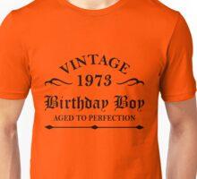 Vintage 1973 Birthday Boy Aged To Perfection Unisex T-Shirt