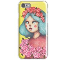Adorned - Girl with Floral Crown iPhone Case/Skin