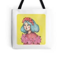 Adorned - Girl with Floral Crown Tote Bag