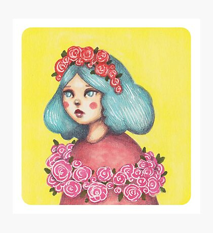 Adorned - Girl with Floral Crown Photographic Print