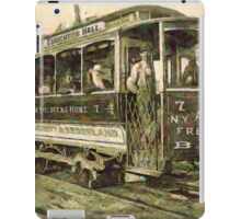 A digital painting of a Street Car, Washington, D.C. in the 19th century iPad Case/Skin