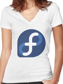 FEDORA Women's Fitted V-Neck T-Shirt
