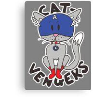 Cap' Cat Canvas Print