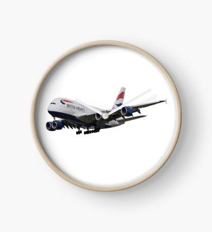 British Airways Airbus A380  Clock