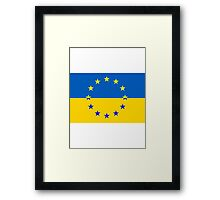 Ukraine in the EU Framed Print