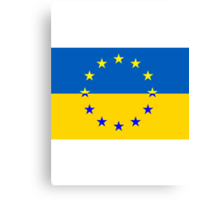 Ukraine in the EU Canvas Print