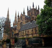 St Mary's Cathedral Sydney NSW Australia by sandysartstudio
