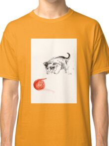 Cat and wool cats poster, sumi-e art print Classic T-Shirt