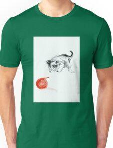 Cat and wool cats poster, sumi-e art print Unisex T-Shirt