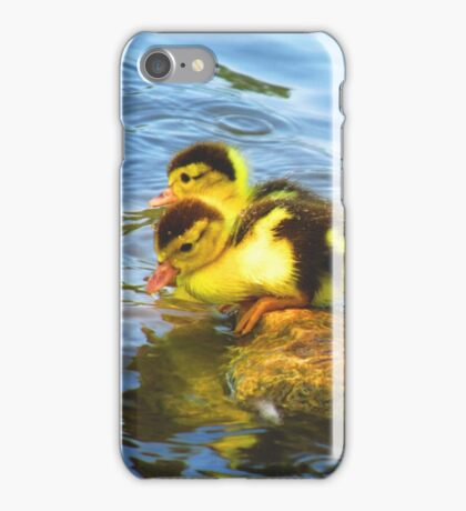 Fluffy Ducklings iPhone Case/Skin