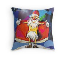 SANTA CLAUS IS COMING TO TOWN! Throw Pillow