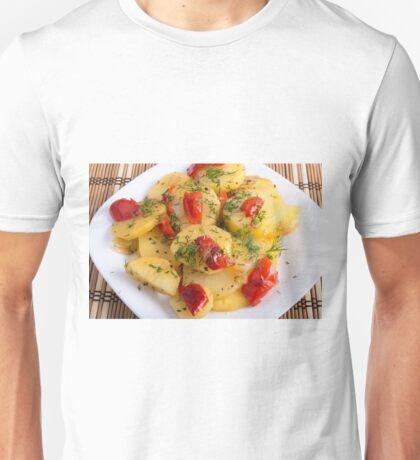 Vegetarian dish with organic vegetables Unisex T-Shirt