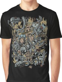 Robot Attack Graphic T-Shirt