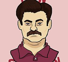 Ron Swanson by SevLovesLily