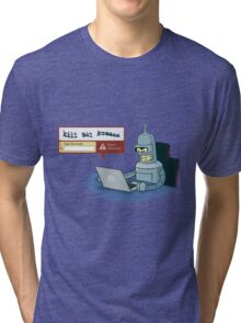 Robot Detector Tri-blend T-Shirt
