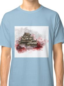 Japanese castle sumi-e painting, japanese art print for sale Classic T-Shirt