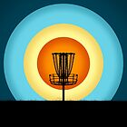 Colorful Disc Golf Basket by perkinsdesigns