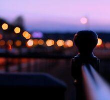Swansea's Mumble Promenade at Night  by CecilyH