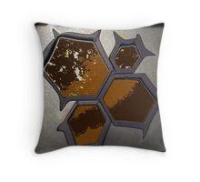 Brown Containment Throw Pillow