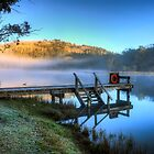 Lake Catani Jetty At sunrise by djzontheball