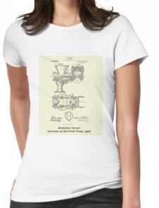 Madeline Turner, Inventor of the Fruit Press - Parchment Womens Fitted T-Shirt