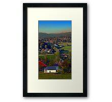 Beautiful autumn scenery | landscape photography Framed Print