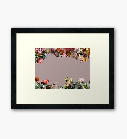 Flower Border  Framed Print