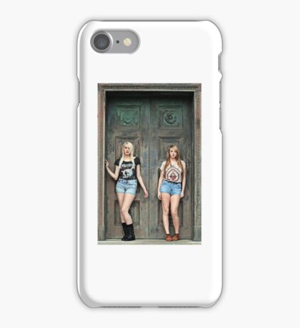 Sexy Women Blonde Models  iPhone Case/Skin