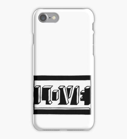 Love Schwarz Weiss iPhone Case/Skin