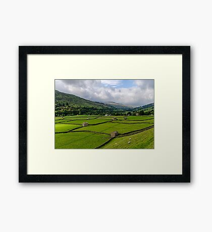 Swaledale Stone Barns Framed Print