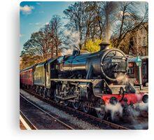 Steam on the Rails Canvas Print