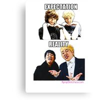 Aegyo VS Derp (Expectation vs Reality) Canvas Print
