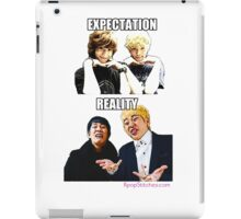 Aegyo VS Derp (Expectation vs Reality) iPad Case/Skin
