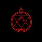 Flame Transmutation Circle - On black by R-evolution GFX