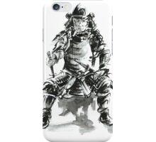 Samurai ink art print, japanese warrior armor poster iPhone Case/Skin