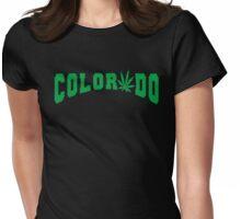 Marijuana Leaf Colorado Womens Fitted T-Shirt