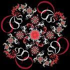 Swirling Flowers by Sandy Keeton