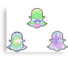 Tie Dye Cute Snapchat Pack Canvas Print