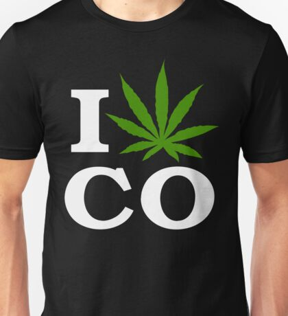 I Love Colorado Marijuana Cannabis Unisex T-Shirt