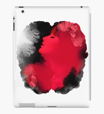 Psychedelic Ink Red Girl iPad Case/Skin