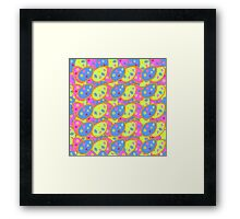 vector seamless pattern with multi-colored Easter eggs Framed Print