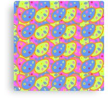 vector seamless pattern with multi-colored Easter eggs Canvas Print