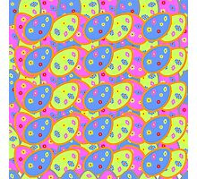 vector seamless pattern with multi-colored Easter eggs Photographic Print