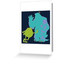 Mike Wazowski and James P. Sullivan (Mike and Sulley) - Monsters Inc Greeting Card